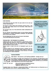 Gemeindebrief April 2020