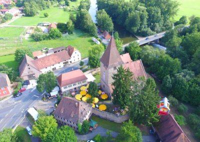 Wehrkirche von oben