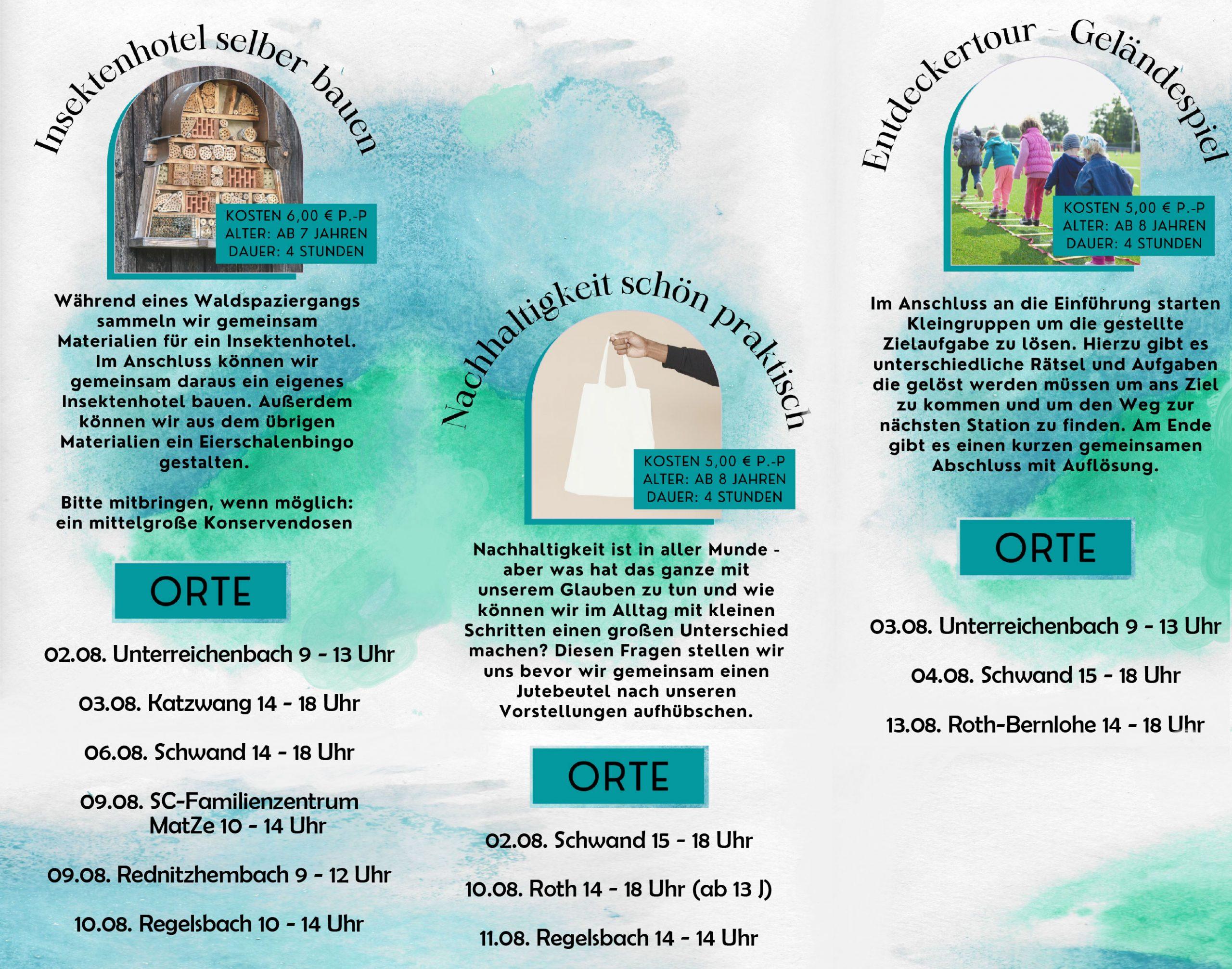 Sommerferien EJ 2021